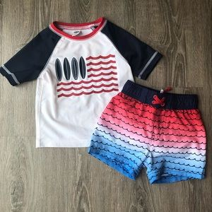Red white and blue Bathing Suit Two Piece